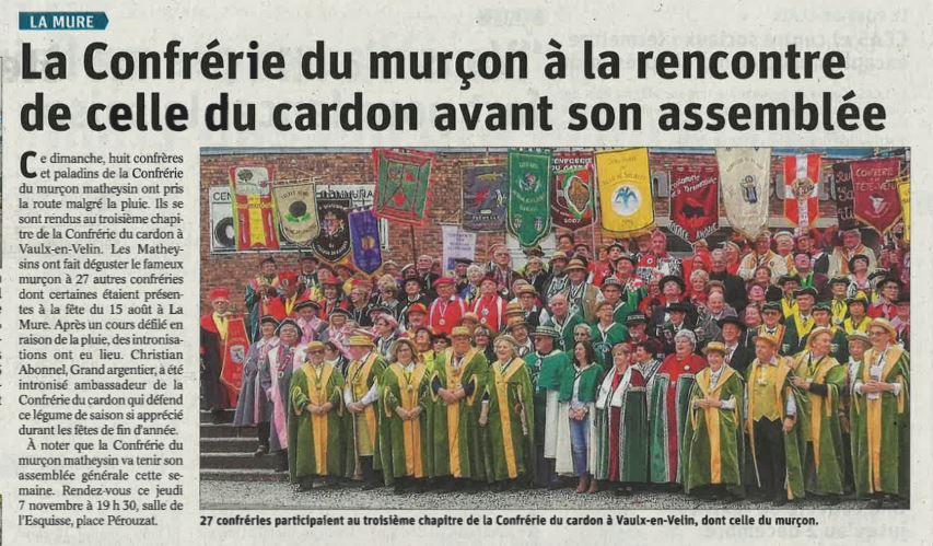 Chapitre Confrerie du Cardon (44)