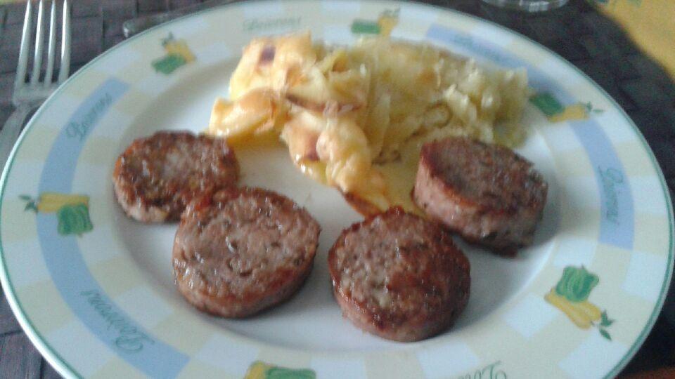 Murcon et gratin de pommes de terre